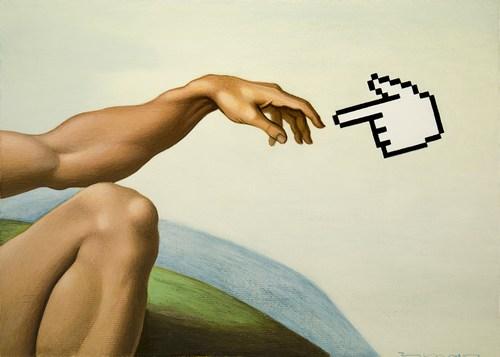 Creation, acrylic on canvas board, 1999, 28 x 20 cm