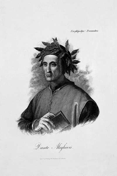 Portret Dantego - ilustracja do Encyklopedii powszechnej S. Orgelbranda, XIX w.