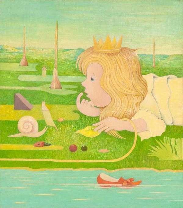 Księżniczka, olej, płótno, 50 x 44 cm