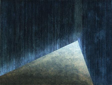 Tomasz Kukawski: Out of the Sade (No Light), kolografia, linoryt, 65x87 cm, 2007