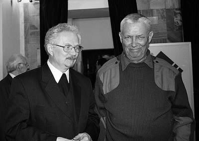 Ks. Wacław Oszajca i Wojciech Młynarski. Fot. J. Jędrzejek