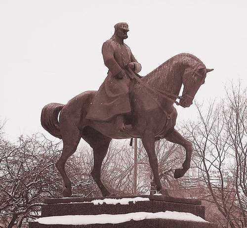Pomnik Józefa Piłsudskiego na placu Litewskim w Lublinie, fot. A. Makowski