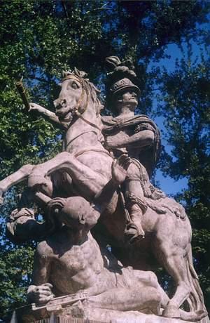 Pomnik króla Jana III Sobieskiego w Wilanowie z 1788 r. - najstarszy pomnik konny w Polsce; fot. Ł Marcińczak