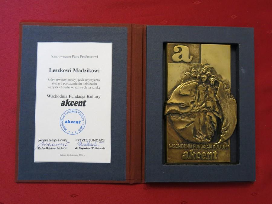 Medal WFK dla Leszka Mądzika