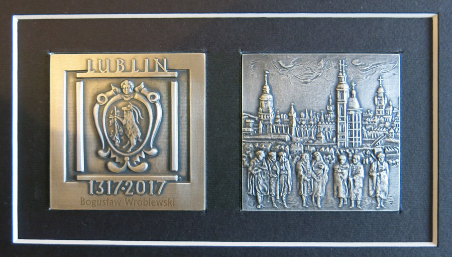 Medal 700-lecia Miasta Lublin dla red. Bogusława Wróblewskiego