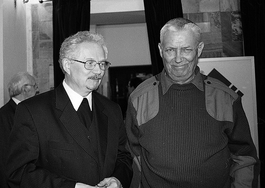 Wojciech Młynarski i ks. Wacław Oszajca, fot. Jedrzejek
