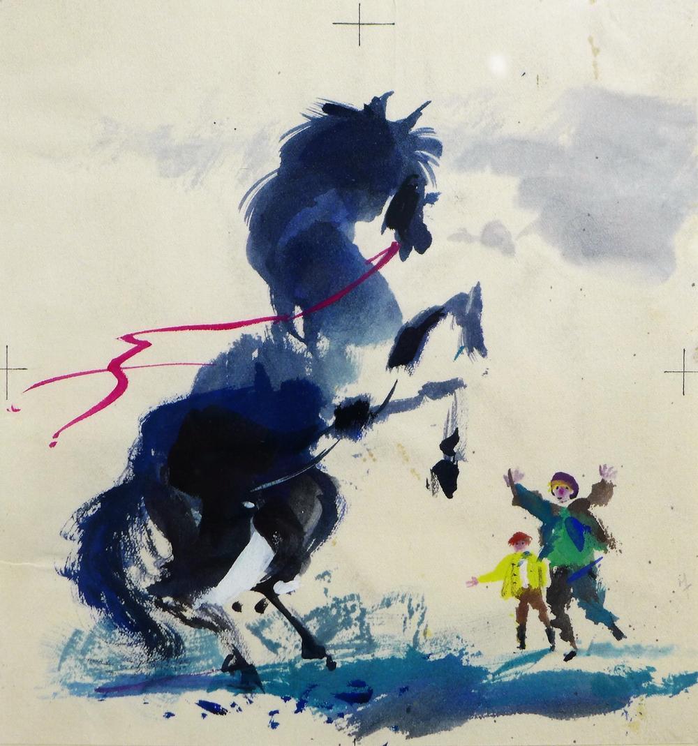 Ilustracja do wiersza O młynarzowym koniu z książki
