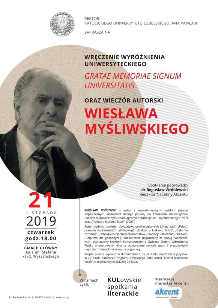 Spotkanie z Wiesławem Myśliwskim