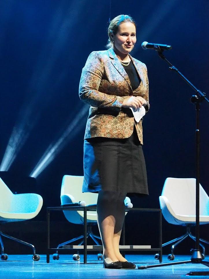 Przemawia ambasador Węgier Urszula Kovács. Fot. A. Makowski